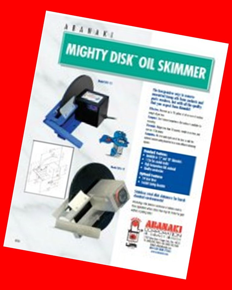 Abanaki Mighty Disk Oil Skimmer
